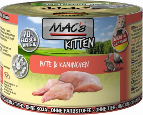 Macs KITTEN Pute+Kanin. 200gD