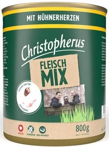 Christopherus Fleischmix - mit Hühnerherzen 800g-Dose