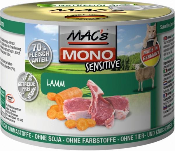 Macs Cat Mono Sensitive Lamm 200g Dose