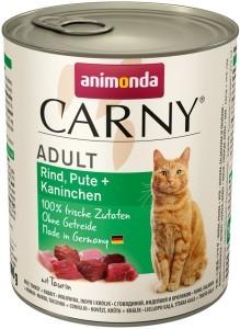 Animonda Cat Dose Carny Adult Rind Pute + Kaninchen 800g