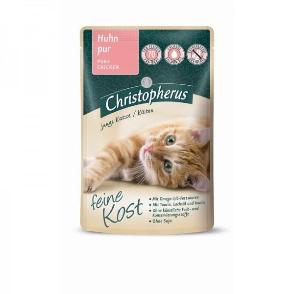 Christopherus Katze Pouch Kitten - Huhn pur 85 g