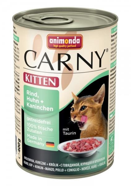 Animonda Cat Dose Carny Kitten Rind & Huhn & Kaninchen 400g