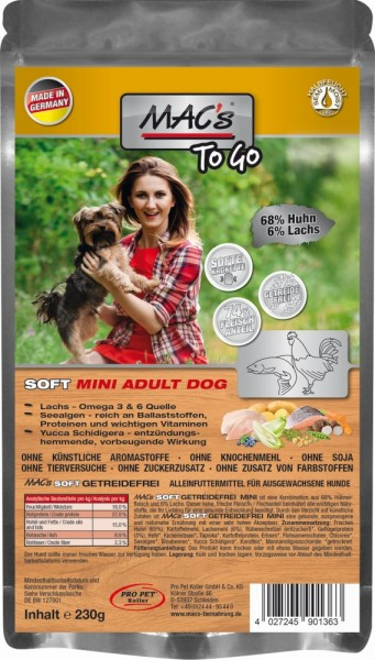 """MACs DOG Soft ""to go"" Mini Huhn 230g"""