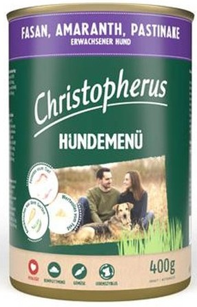Christopherus Hundemenü -Adult - mit Fasan, Amaranth, Pas