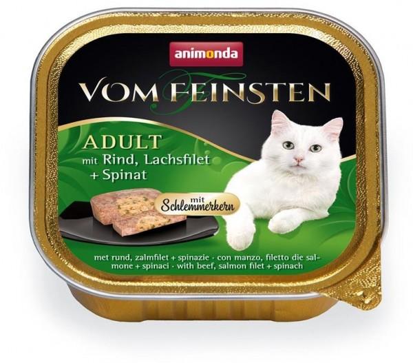 Animonda Cat Vom Feinsten mit Schlemmerkern mit Rind, Lachsfilet & Spinat 100g