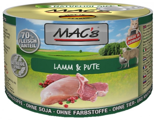 Macs Cat Lamm & Pute 200g Dose