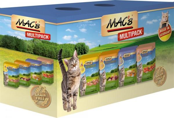 Macs Cat Mischpack mit Fisch 12x100g Frischebeutel