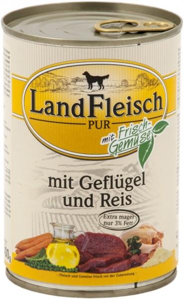 Landfleisch Pur Geflügel & Reis extra mager 400g