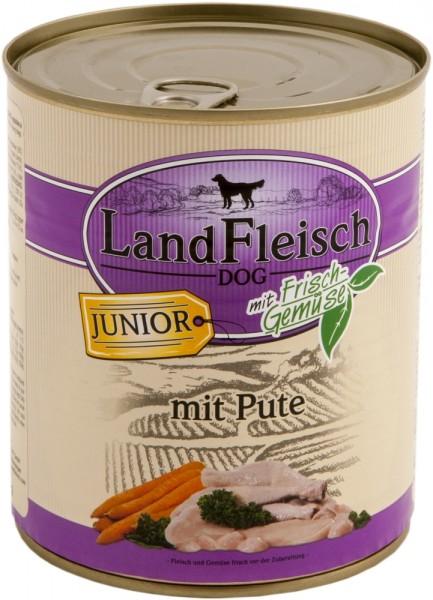 Landfleisch Hund Dose Junior Pute mit Biogemüse 800 g