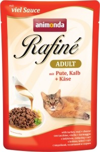 Animonda Cat Portionsbeutel Rafine Soupé Pute, Kalb & Käse 100g
