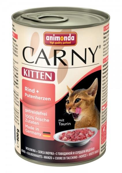 Animonda Cat Dose Carny Kitten Rind & Putenherzen 400g