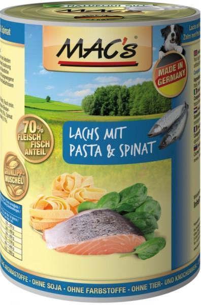 Macs Dog Lachs, Pasta & Spinat 400g Dose