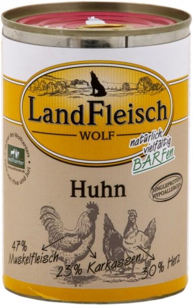 LandFleisch Hunde Dose Wolf 100 % vom Huhn 400g