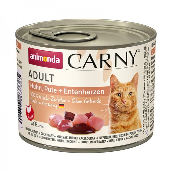 Animonda Cat Dose Carny Adult Huhn & Pute & Entenherzen 200g