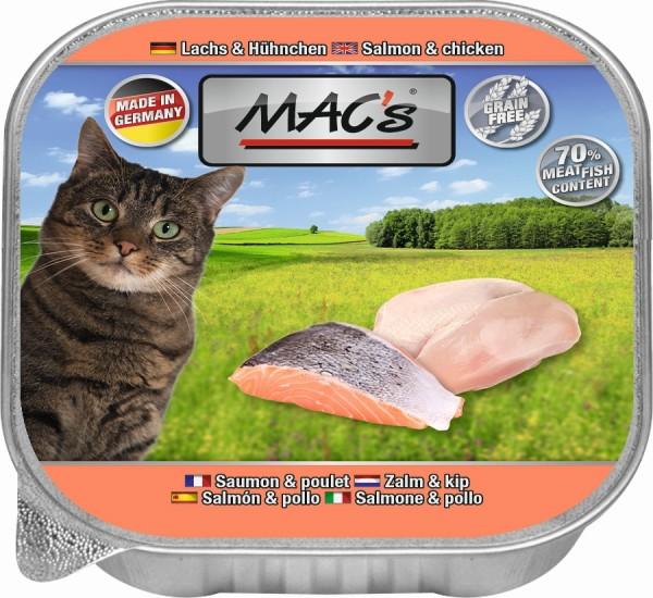 Macs Cat Lachs + Hühnchen 85gS