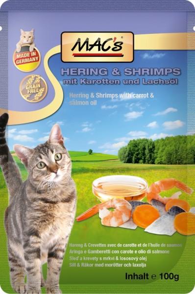 Macs Cat Hering & Shrimps 100g Frischebeutel