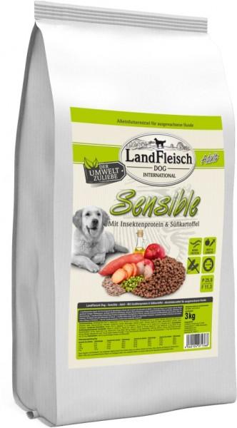 Landfleisch Dog Sensible mit Insektenprotein & Süßkartoff