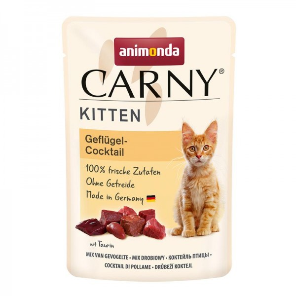 Animonda Cat Portionsbeutel Carny Kitten Geflügelcocktail